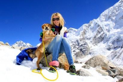 Rupee dog climbs Mount Everest