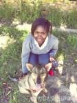 girl & shepherd foto