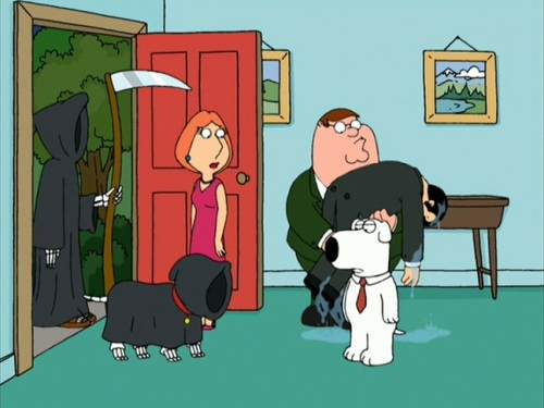 Brian Griffin returns from the dead.