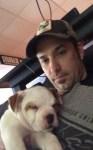 Justin Bieber's Bulldog puppy and Jeremy Bieber