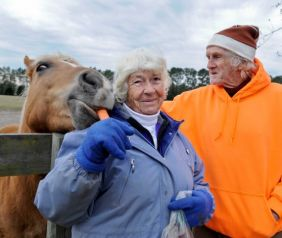 In 1984 Peter and Mary Gregory bought the Mill Creek Farm in Alachua, Fl and created the non-profit organization Retirement Home for Horses, where aging horses can live out there days in tranquility./Photo credit: Beaumontenterprise.com