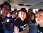 Peta Protesters Arrested Police Van
