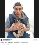 Olympian Gus Kenworthy Tweets picture with sochi stray puppy dog