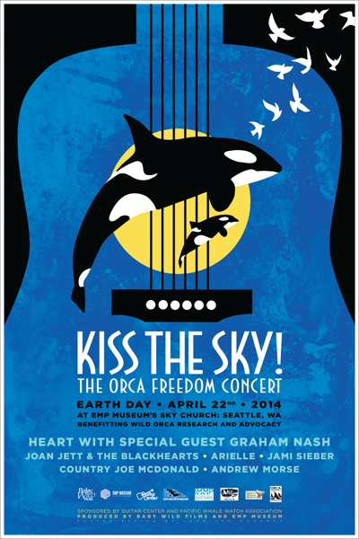 Kiss the Sky orca freedom concert flyer