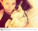 Miley Cyrus & Dog Floyd
