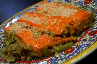 """This barley and broccoli casserole is hearty and """"meaty"""" for a meatless meal. (VEGAN/VEGETARIAN RECIPES)"""