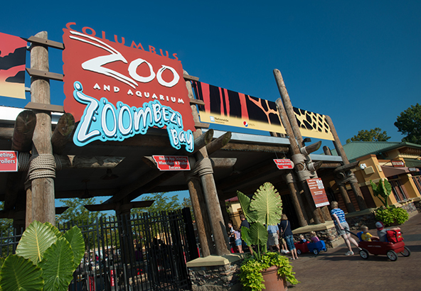 Front entrance to Columbus Zoo and Aquarium. Photo Credit: Columbus Zoo and Aquarium