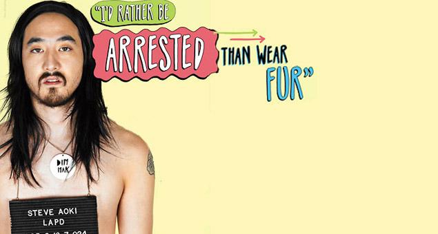 Peta, fur, animal rights, animal activism, steve aoki, edm, raves