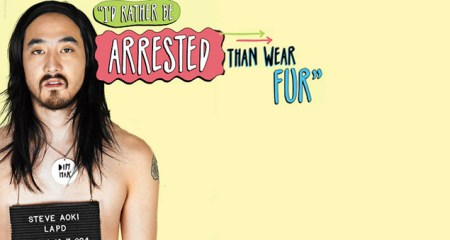 Peta, fur, animal rights, animal activism, steve aoki, edm, raves