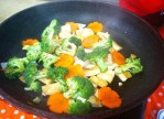 Saute tofu and vegetables