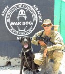 U.S. Soldier Daniel with his military dog Oogie