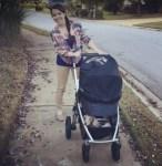 sadie-cherney-with-baby-stroller-and-paralyzed-dachshund-artie