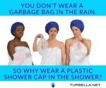 Turbella best shower cap, hair turban + hair wrap for healthy hair