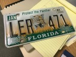 protect the panther Florida license plate