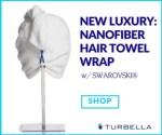 Best microfiber hair towel turban made in USA Enwrapture by Turbella