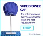 best shower cap for long hair extra large adjustable fit Superpower Cap by Turbella