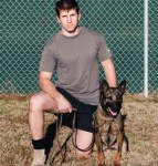 U.S. Army Ranger John Dixon and military dog Mika