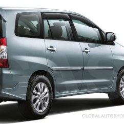 All New Kijang Innova 2018 Review Grand Veloz 1.3 Toyota Chrome Body Side Door Molding Trim Accessories