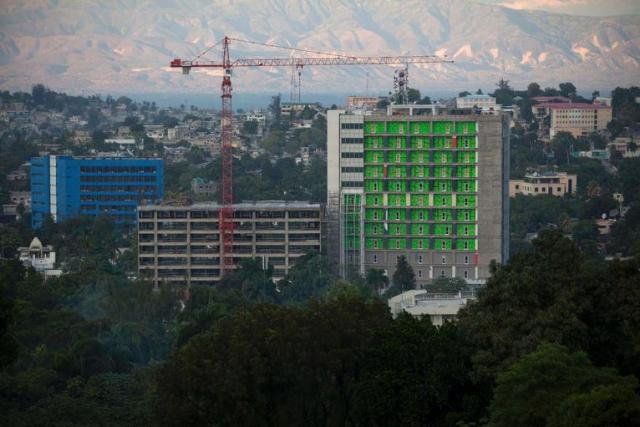 Construction in Port au Prince after the earthquake