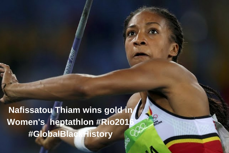 Nafissatou Thiam wins gold in Women's heptathlon #Rio2016#GlobalBlackHIstory