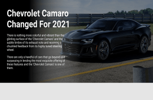 Chevrolet Camaro Changed For 2021