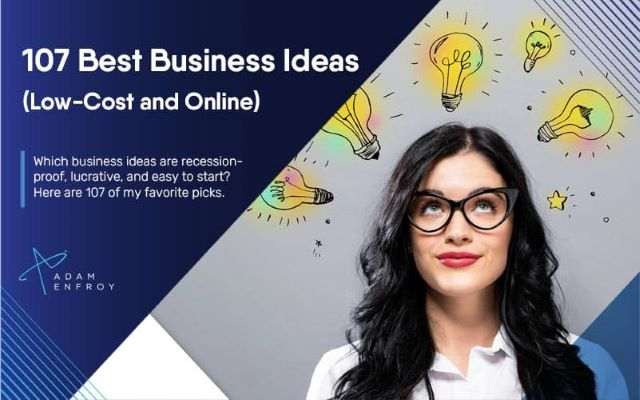 10 small ideas to start out business in 2021