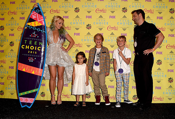 Britney Spears Kids Teen Choice Awards 2015