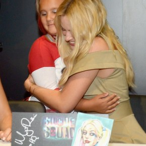 Margot Robbie at The Suicide Squad Cast Signing