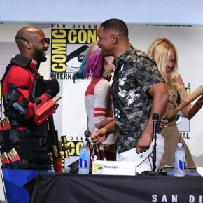 Will Smith and Margot Robbie at The Suicide Squad Cast Signing