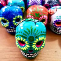 Hand Painted Mexican Skull Mini Assorted