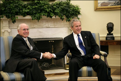 John Howard With President Bush