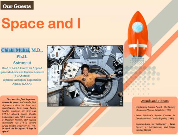 Chiaki Mukai, Global Education Magazine