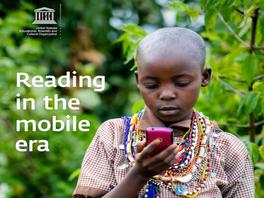 Reading in the mobile era, global education magazine, acnur, unesco
