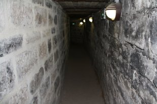 One tunnel in the command post.