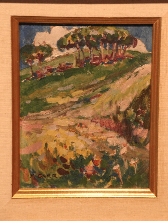 One of her paintings influenced by her time in Paris
