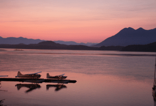 Seaplanes on the water