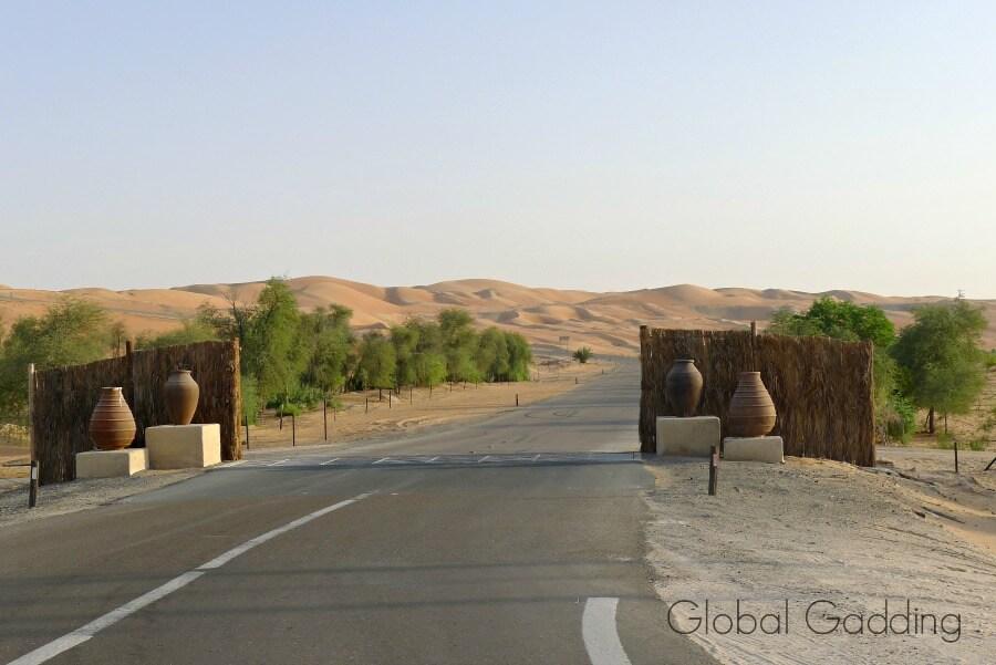 entrance to anantara qasr al sarab resort