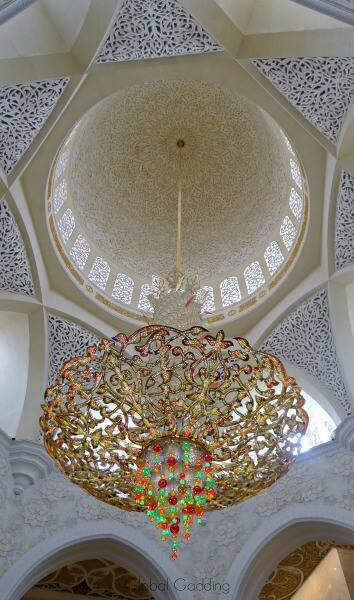 chandelier at grand mosque