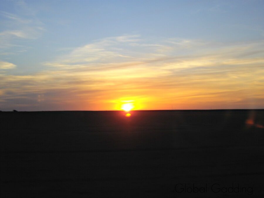 Sunset Nullarbor Desert