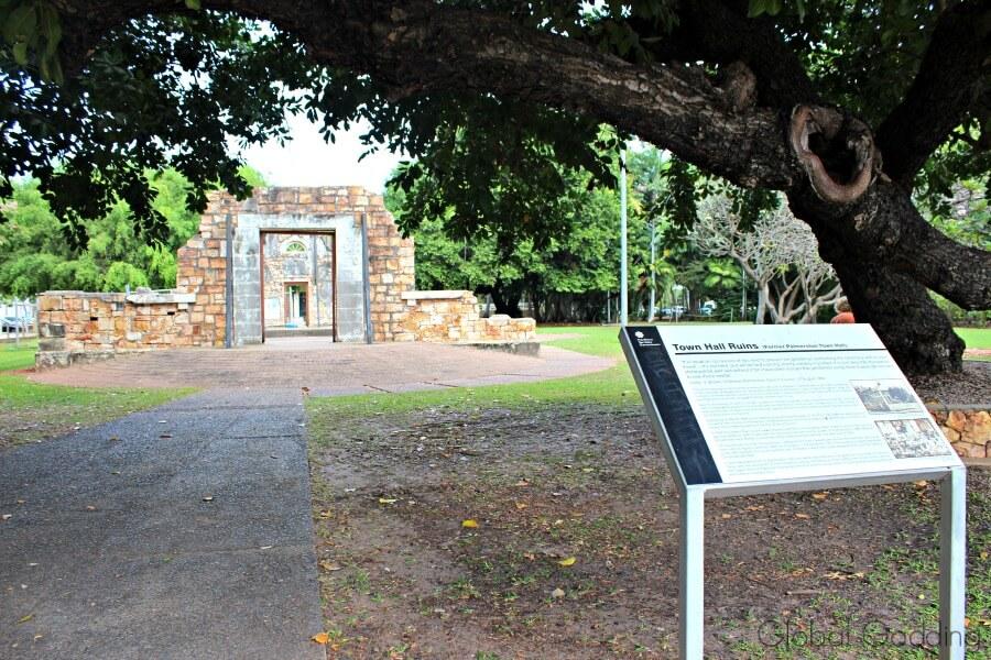 Darwin Town Hall ruins