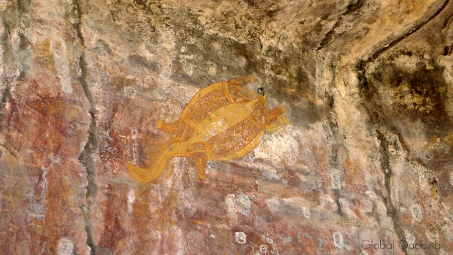 Ubirr Long Neck Turtle Rock Art