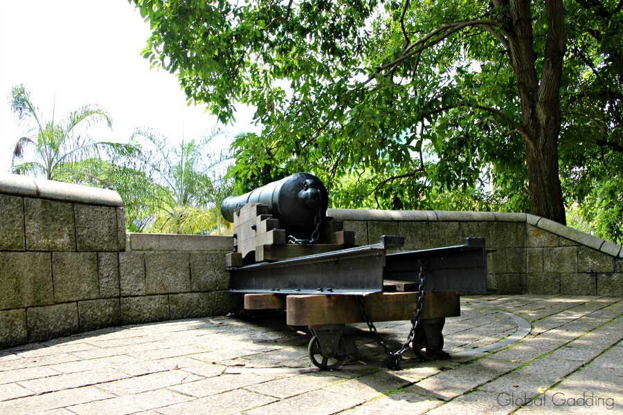 fort canning park cannon
