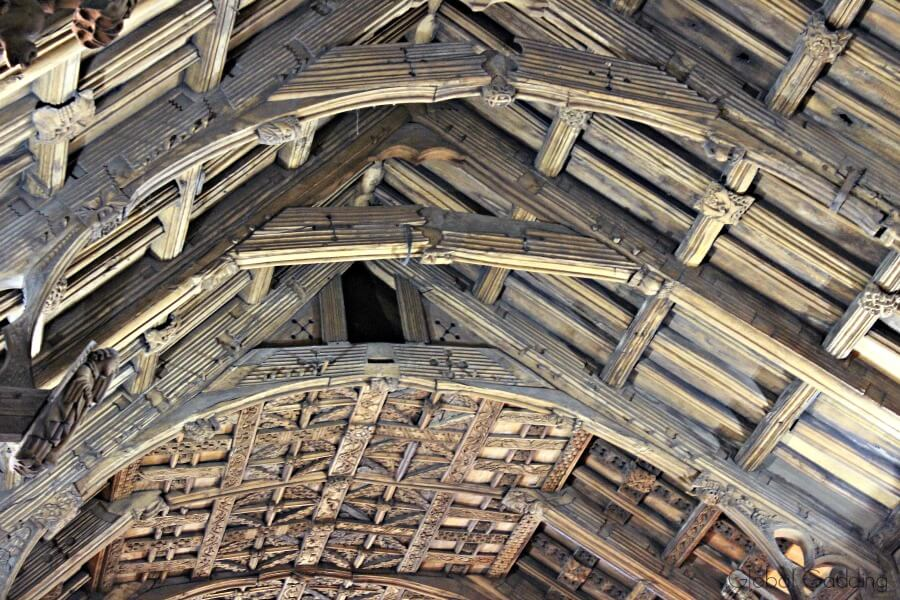 picturesque llangollen st collen church ceiling