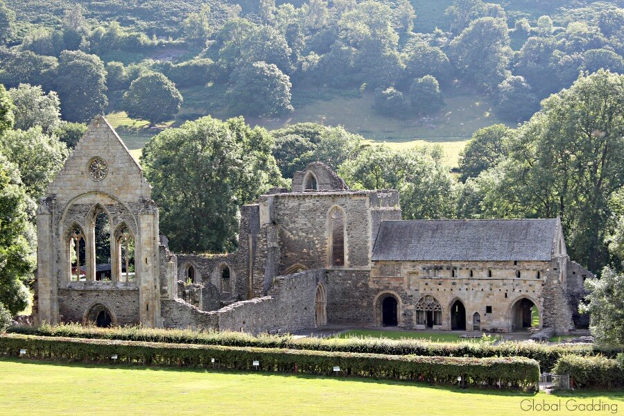 valle crucis abbey wales, front view