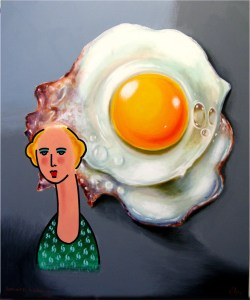 Heinz Zolper Dame mit Ei Lady with egg - HEINZ ZOLPER - Dame mit Ei (Lady with egg)
