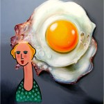 Heinz Zolper Dame mit Ei Lady with egg - Home