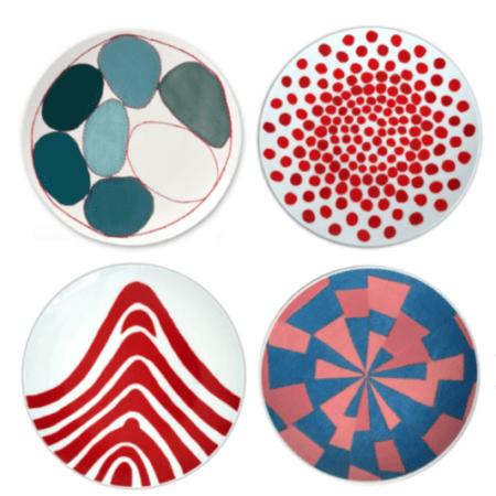 Louise Bourgeois de à l'oubli Plate, Red Dots a.o. 4 plates