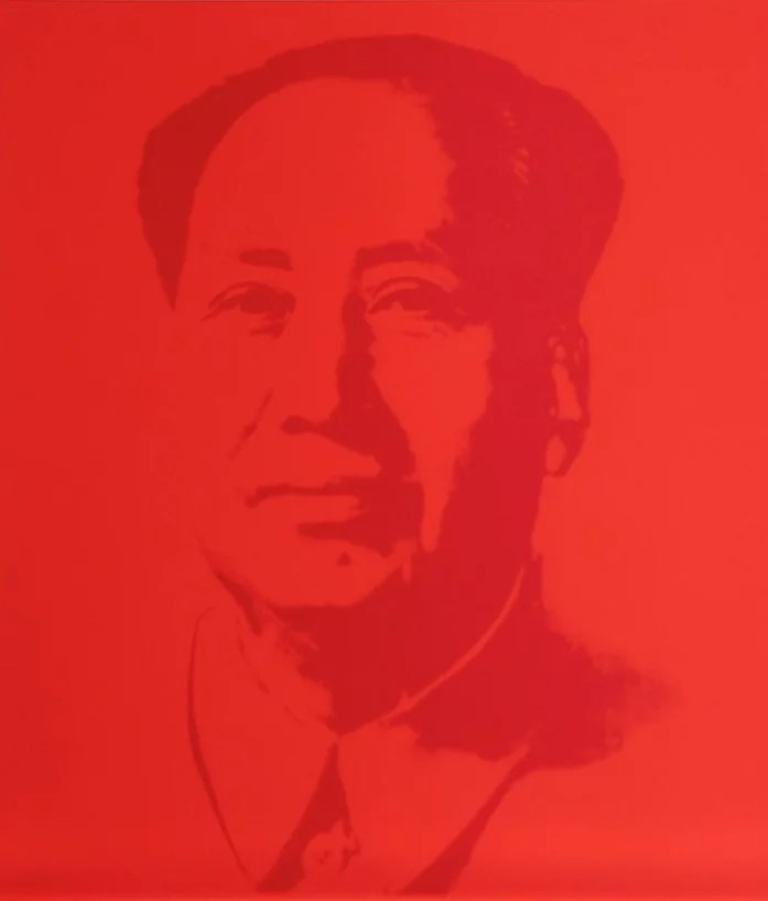 Warhol Sunday B Morning Mao Red silkscreen - ANDY WARHOL (Sunday B. Morning) - Mao Red