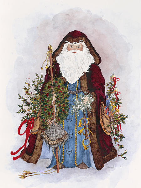 Peggy Abrams  Celestial Santa  Art Print  Global Gallery