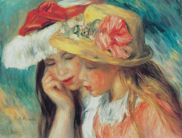 best living room decor log burner pierre-auguste renoir - les deux soeurs art print ...